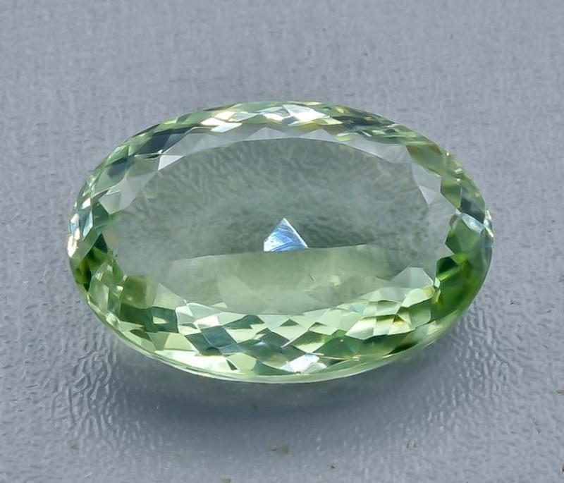 29.17 Crt  Green Prasiolite Amethyst Faceted Gemstone (Rk-80)