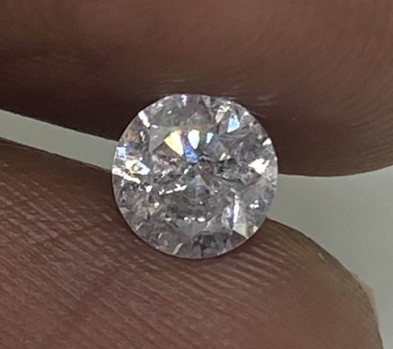 (2) Certified $1147 Fiery  0.62cts SI2  Nat White Loose Diamond Round