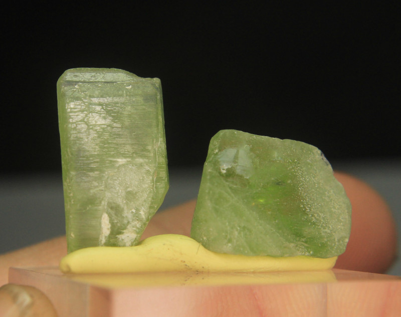 Natural Peridot Crystal Lot For Wire Wrap.