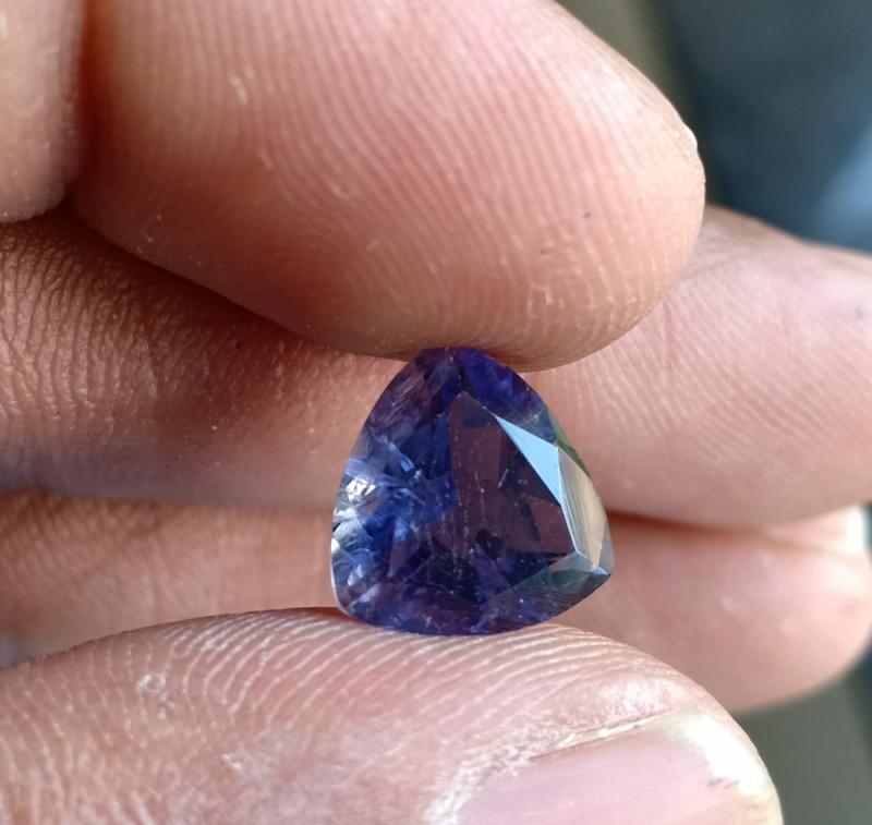 Natural iolite Gemstone Faceted Genuine Gem VA5179