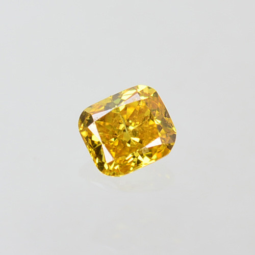 Fantastic!! 0.09 Cts Natural Untreated Diamond Fancy Yellow Radiant  Cut Af