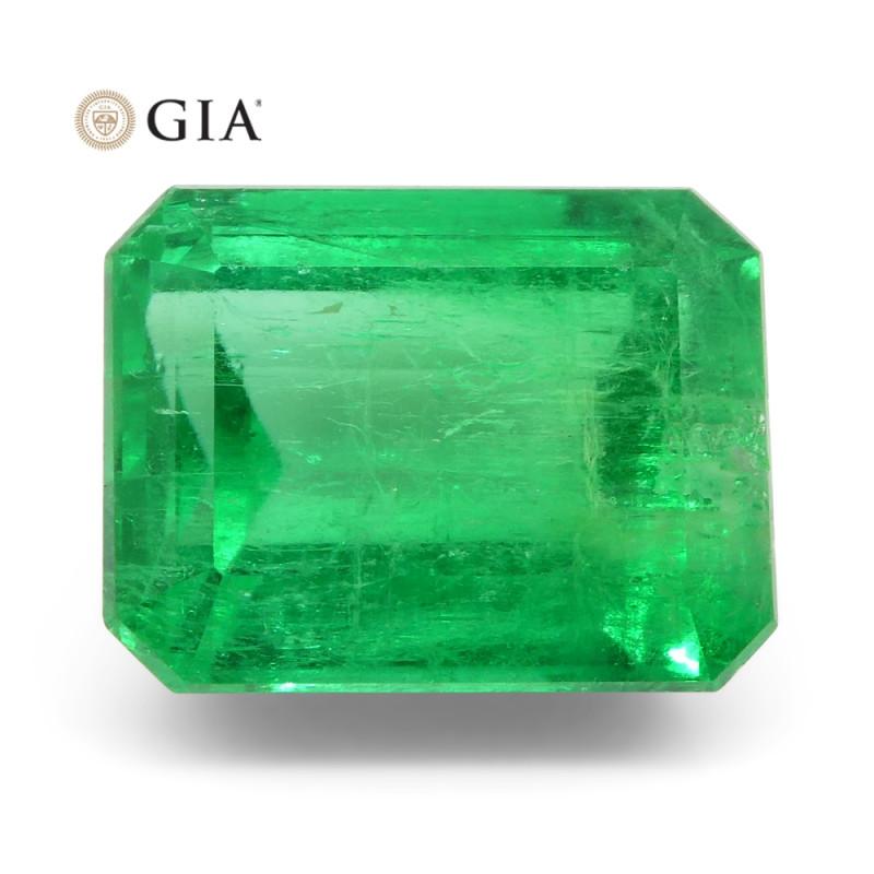 4.43ct Octagonal/Emerald Cut Emerald GIA Certified Colombian
