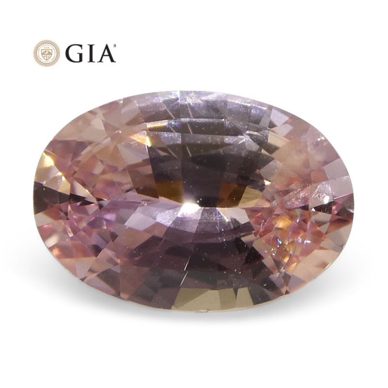1.51ct Oval Orangy Pink Padparadscha Sapphire GIA Certified Sri Lankan Unhe