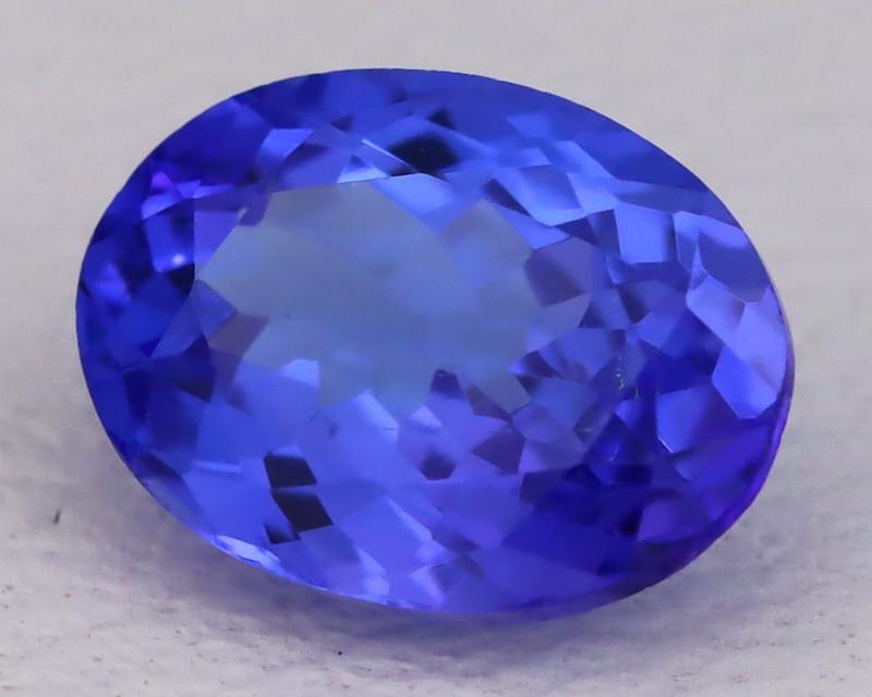 Tanzanite 1.20Ct VVS Oval Cut Natural Vivid Purplish Blue Tanzanite C2327