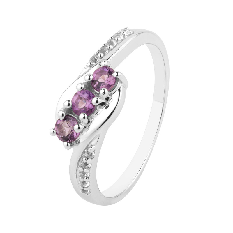 Amethyst 925 Sterling silver ring #730