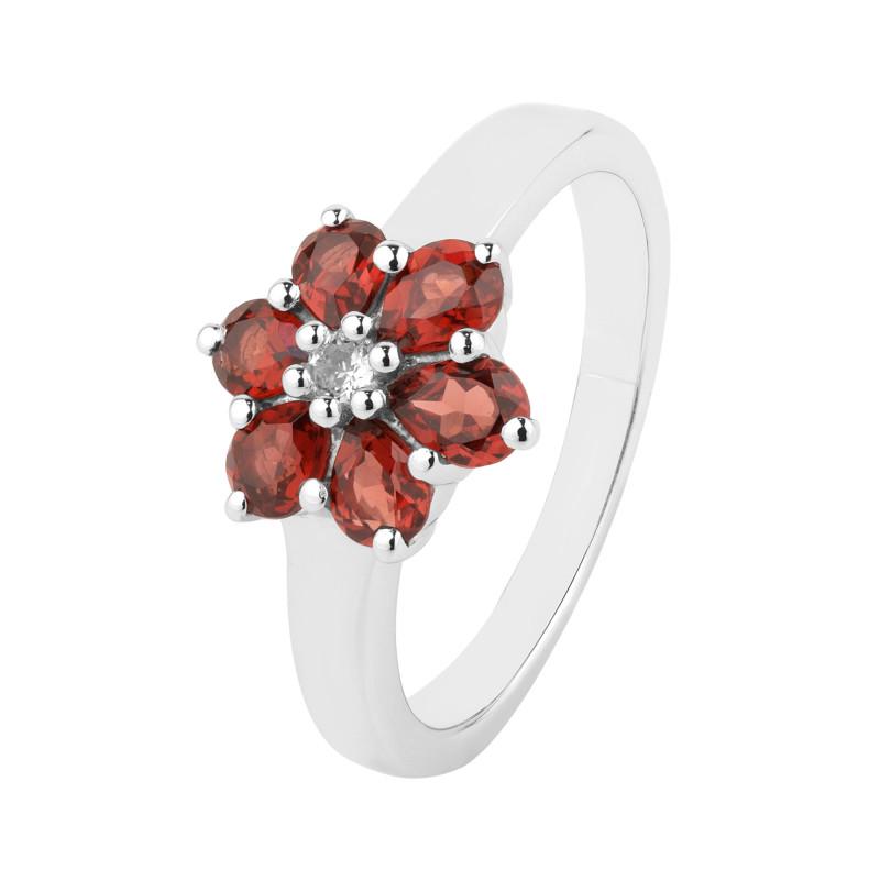 Garnet 925 Sterling silver ring #36731