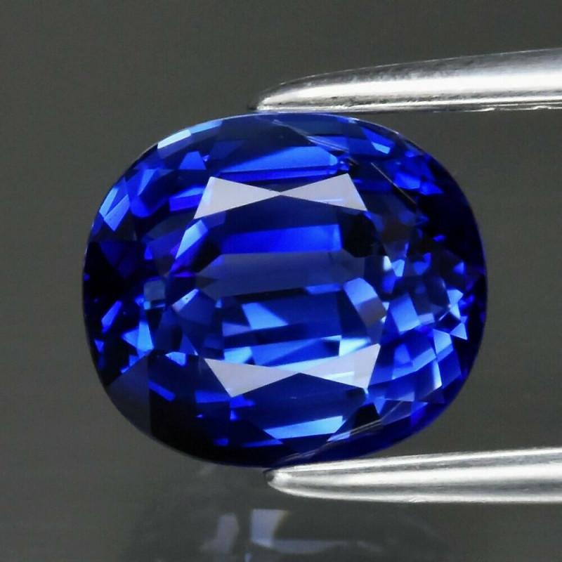 2.01ct VVS ROYAL BLUE CEYLON SAPPHIRE  CERT - HEATED - 6.88 x6.03mm