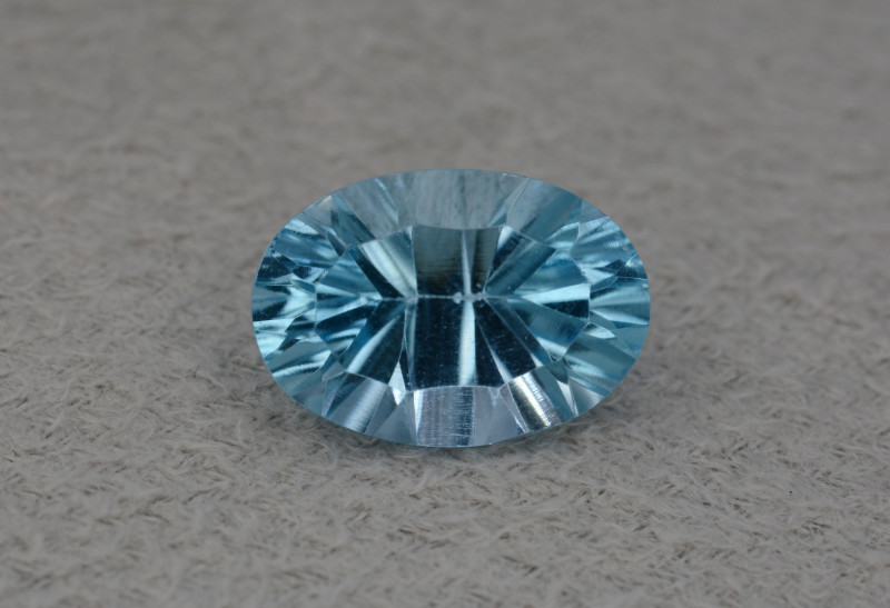 Natural Blue Topaz 5.10 Cts Concave Cut.