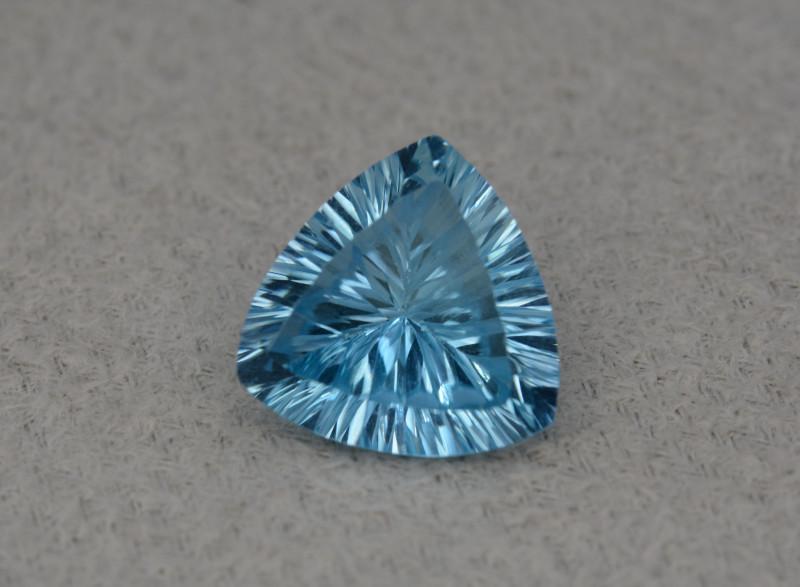 Natural Blue Topaz 5.87 Cts Concave Cut.