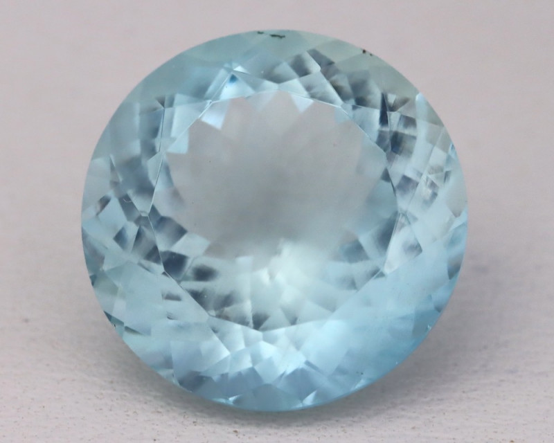 Aquamarine 9.38Ct Natural Round Master Cut Greenish Blue Aquamarine B2404