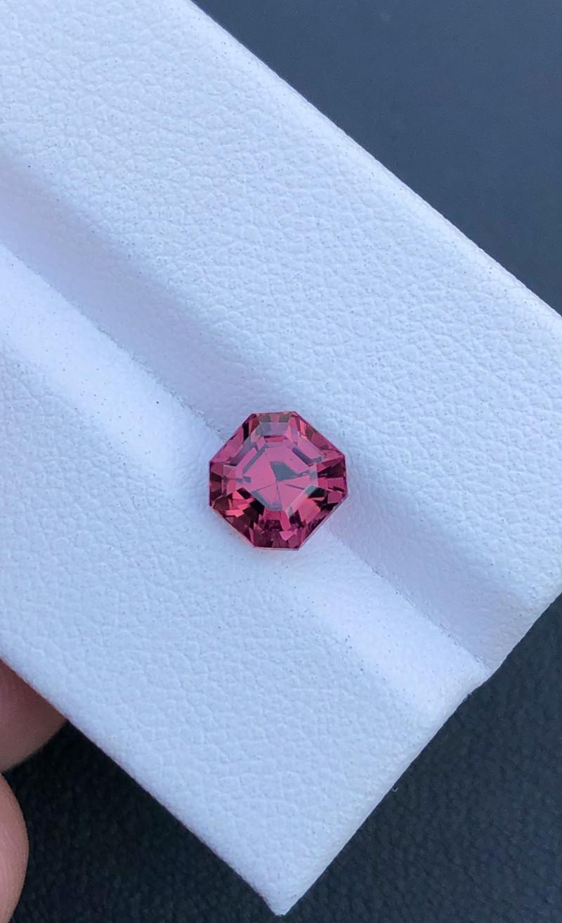 1.50 ct Attractive Hot Pink Asscher Cut Congo Tourmaline