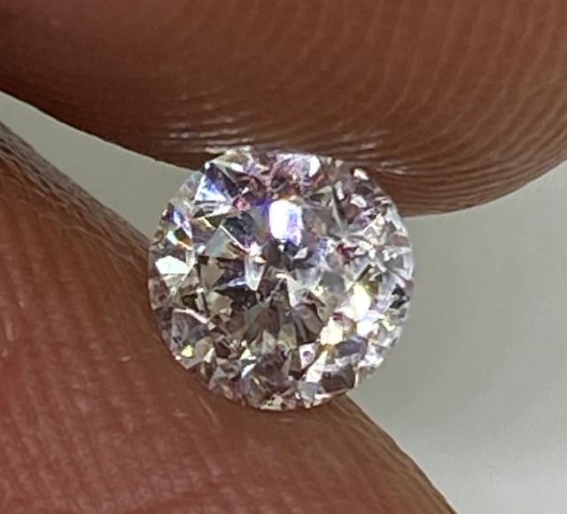 (1) Certified $1223  Stunning  0.53cts SI1 Nat White Round Loose Diamond