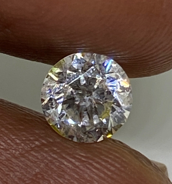 (6) Certified $1865 Gorgeous 0.73cts SI1 Nat  White Round Loose Diamond