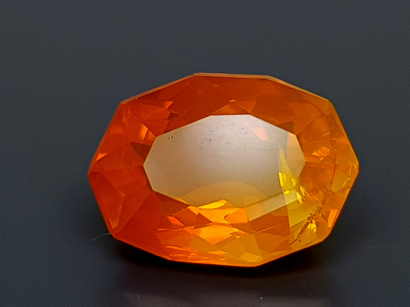 2CT FACETED FIRE OPAL BEST QUALITY GEMSTONE IIGC17