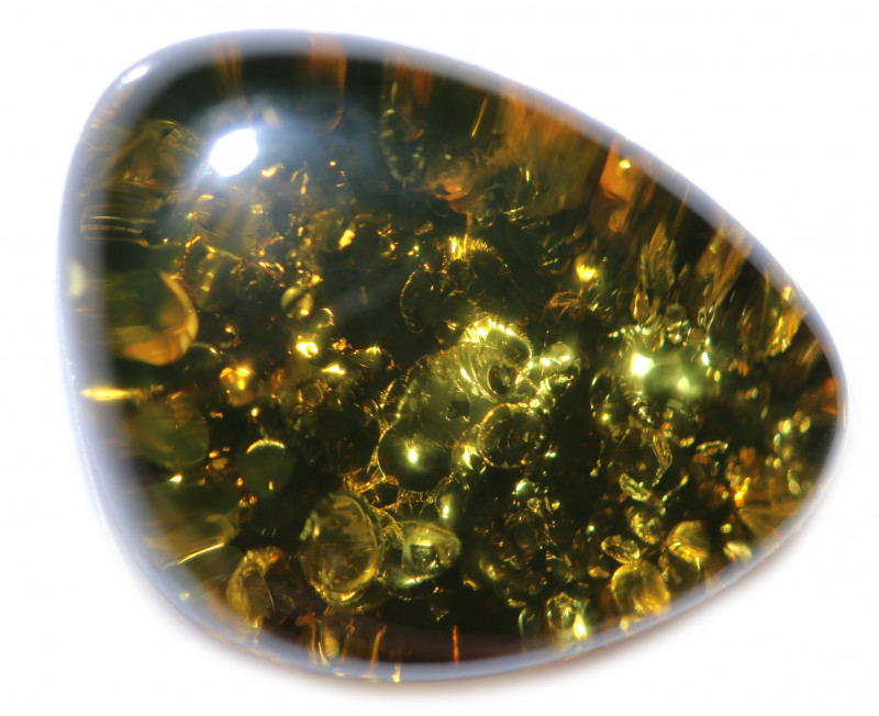 23 Cts  Natural Green  Amber from Poland  code CCC2896