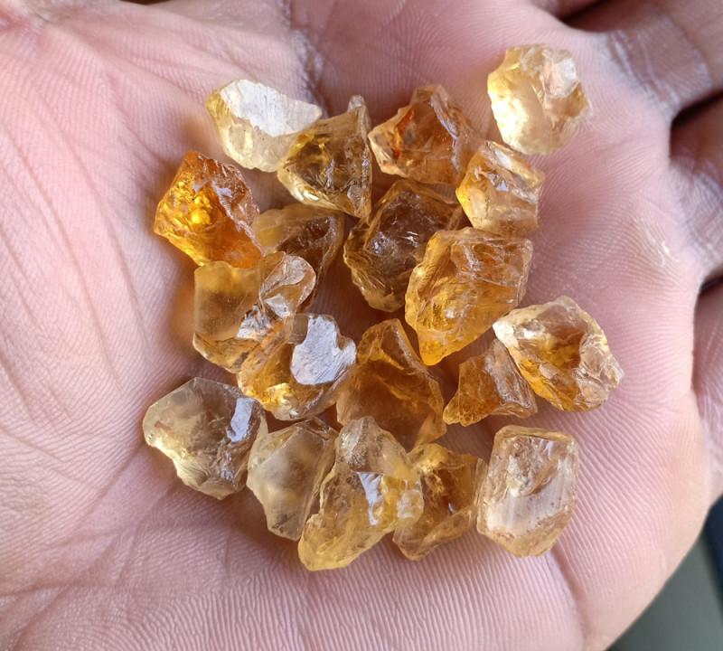 100 Ct Natural Citrine Gemstone Rough Parcel VA5322