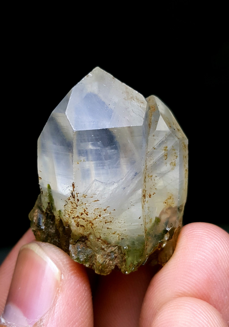 Amazing Natural color Lovely Epidote Cluster combine with Quartz Crystals 1