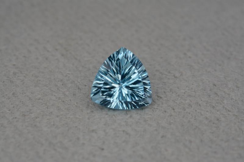 Natural Blue Topaz 4.53 Cts Concave Cut.