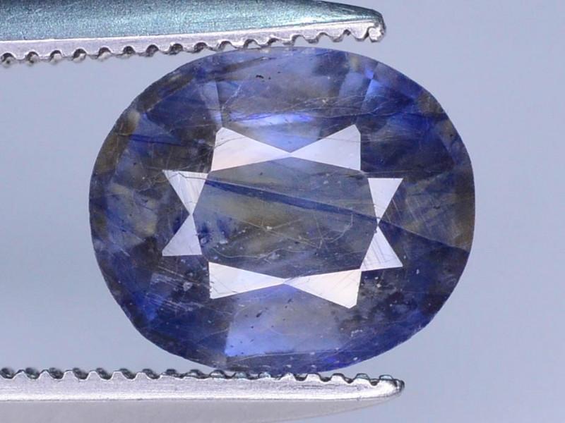 Purplish Blue 2.20 ct Bi Color Sapphire Ring Size