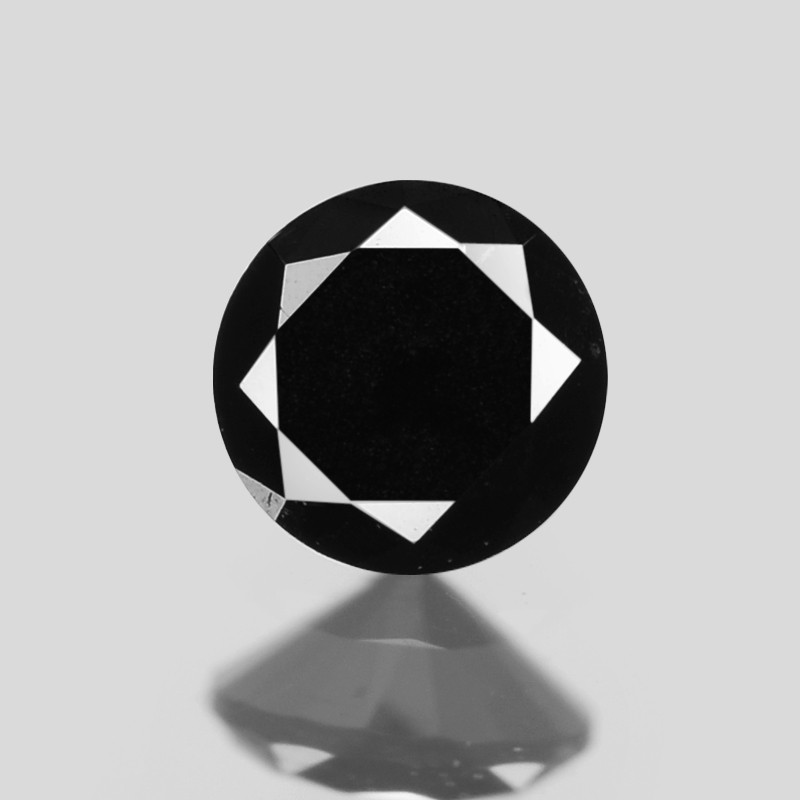 Diamond 0.08 Cts Fancy Black Color Natural