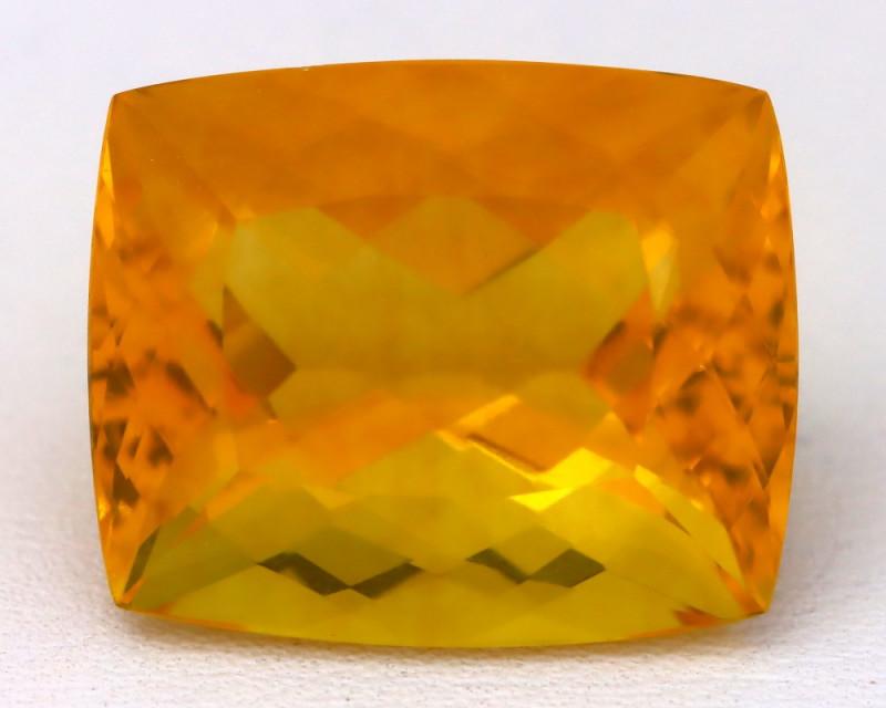 Fluorite 20.79Ct VVS Octagon Cut Natural Vivid Yellow Color Fluorite B0323