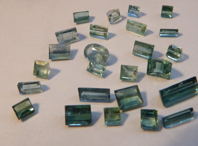 18 carats 25 pcs Faceted and cut Paraiba tourmaline Lot