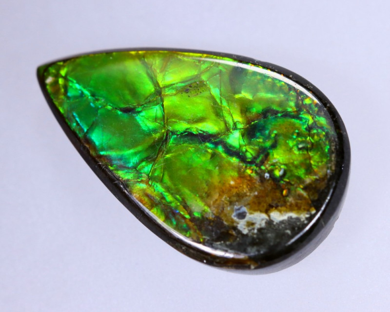 18x11mm,  7.00cts Natural Canadian Ammolite Stone / MA1491