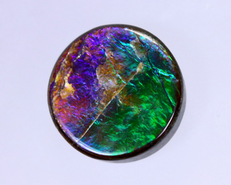 13x13mm,  7.18cts Natural Canadian Ammolite Stone / MA1515