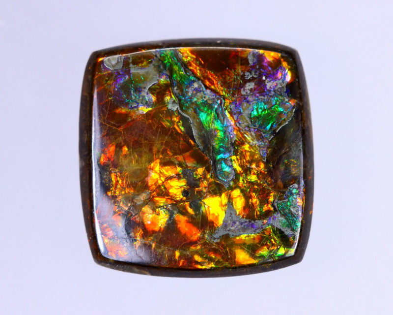 9x8mm,  7.06cts Natural Canadian Ammolite Stone / MA1522