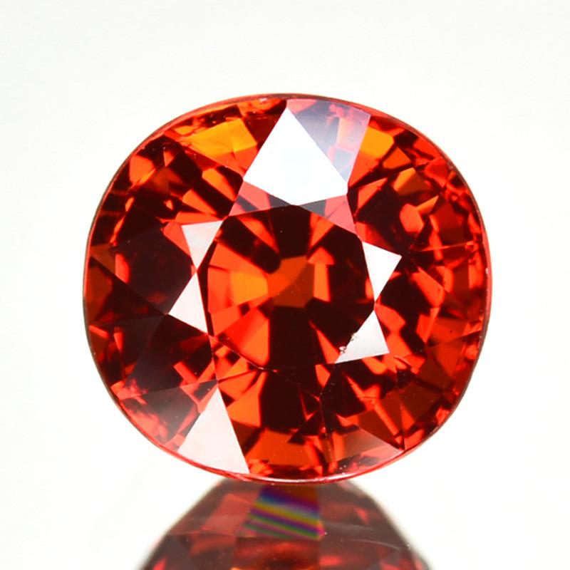 2.47 Cts Natural Mandarin Orange Spessartite Garnet 7mm Cushion Namibia Gem