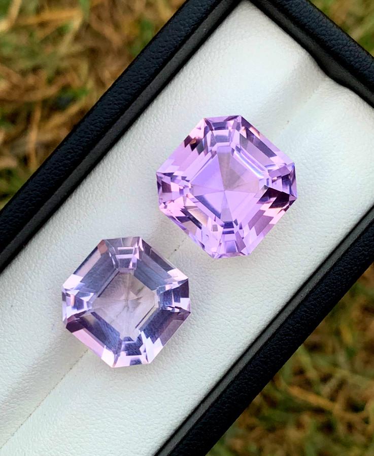 40.65 cts Natural Amethyst Gemstones