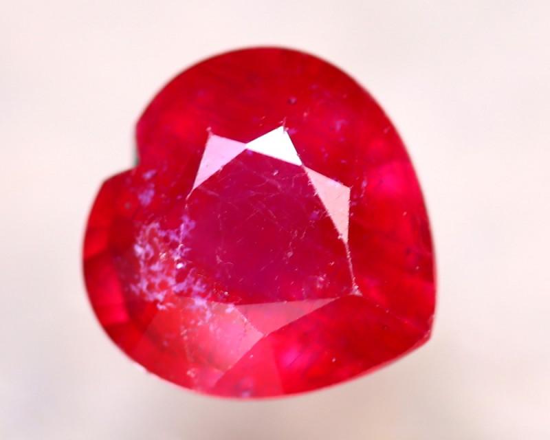 Ruby 3.38Ct Heart Shape Madagascar Blood Red Ruby EN125/A20