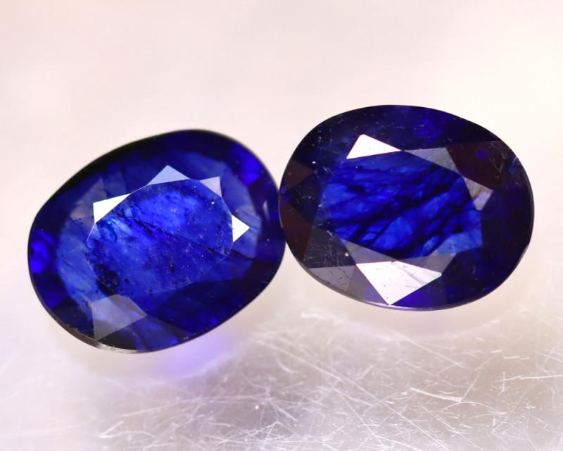 Ceylon Sapphire 4.23Ct 2Pcs Royal Blue Sapphire DN95/A23