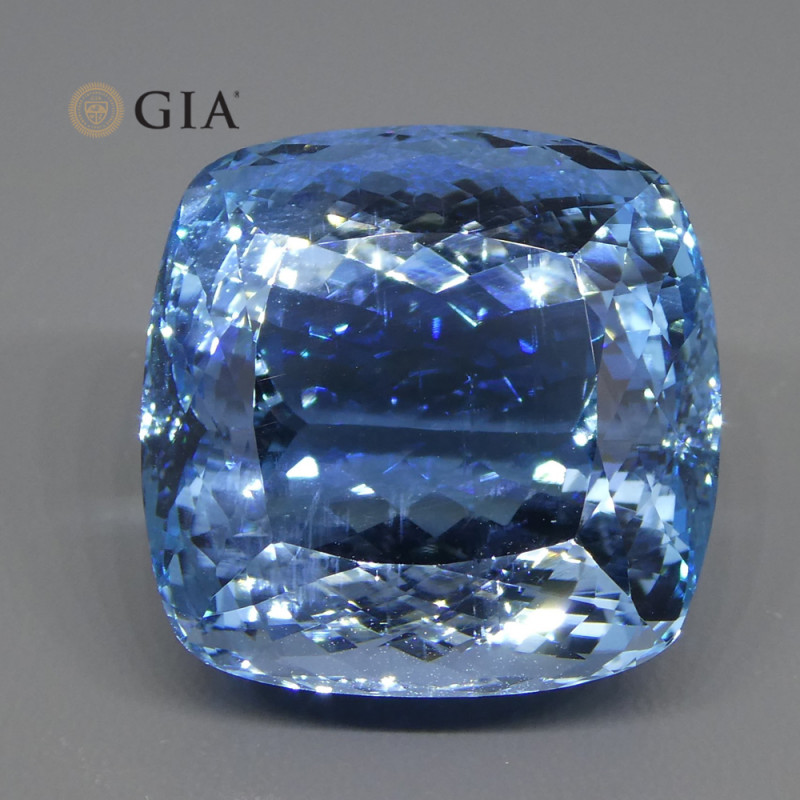 59.84ct Cushion Aquamarine GIA Certified