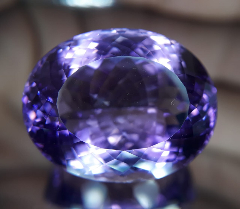 Amethyst, 43.40ct, extra fine and clean gem!!