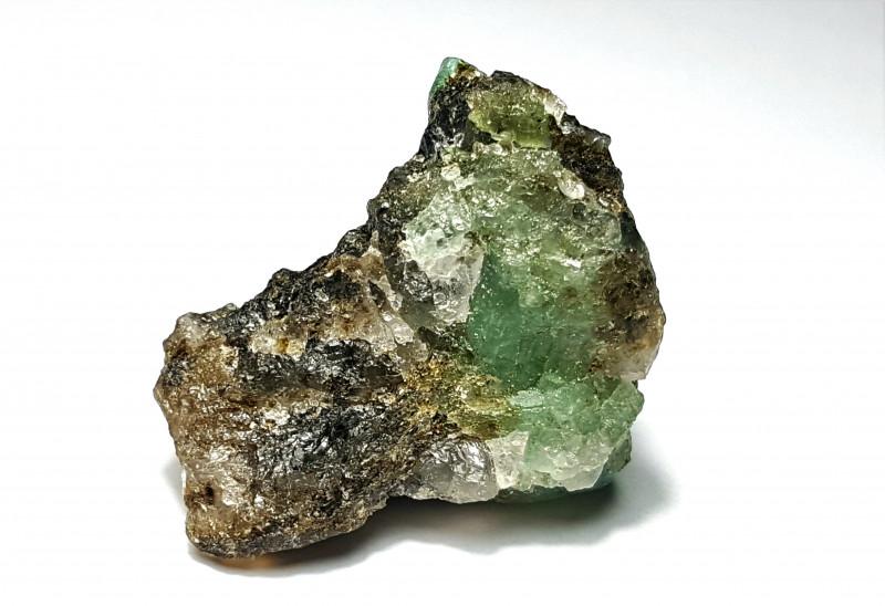 Amazing Natural color Swat Emerald with Quartz specimen 87Cts-P