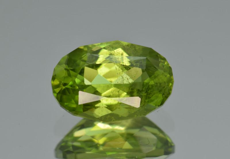Natural Himalayan Peridot 3.18 Cts Precision Cut Gemstone