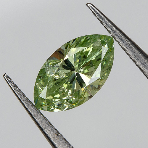 RARE ! 0.21 Ct  Loose Natural Green Diamond Marquise 5.27x2.97mm
