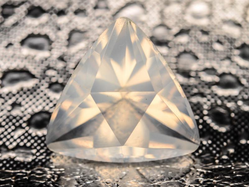 Trillian cut moonstone gemstone