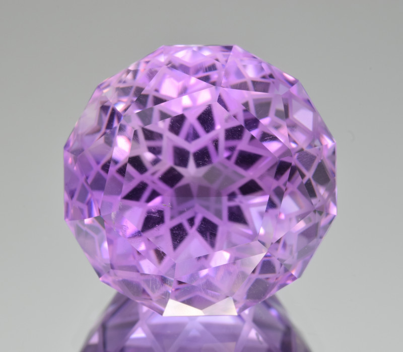 Natural Amethyst 46.58 Cts Precision  Cut, Top Quality Gemstone