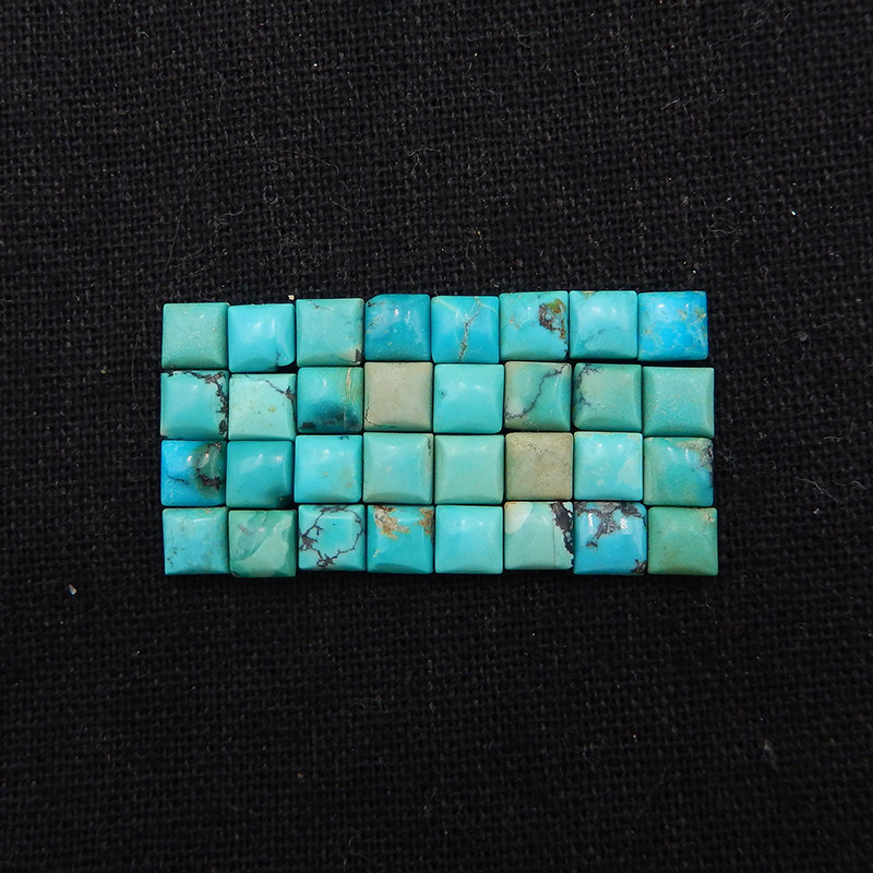 23cts Tiny Turquoise Cabochon, Square Cabochon, Lucky Stone,H1963