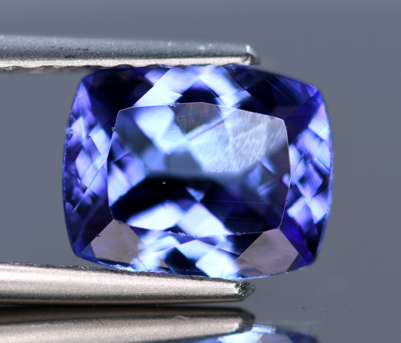 AAA COLOR 2.10 CRT RADIANT SHAPE TANZANITE GEMSTONE
