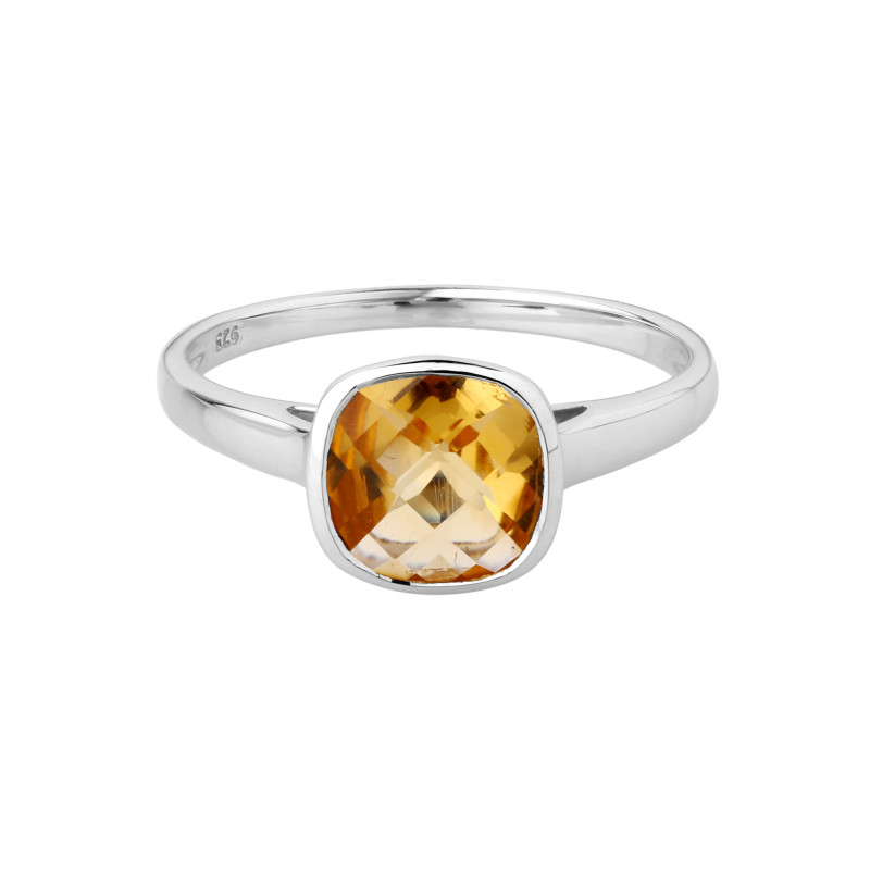 Citrine 925 Sterling silver ring #36644