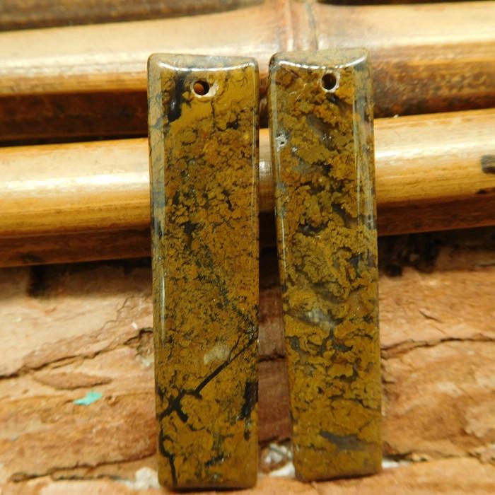 African jade earring pair (G2730)