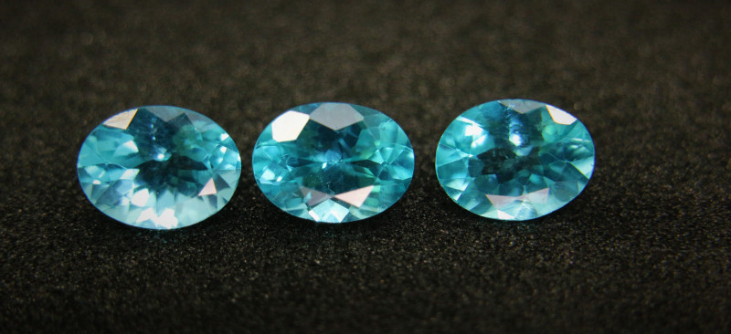 3.91cts Natural Apatite       Oval Cut Parcel