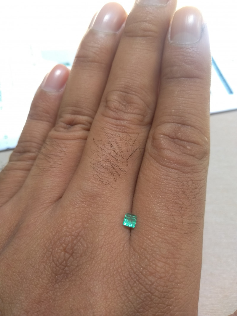 Certified Colombian emerald  from Muzo 0.21 cts