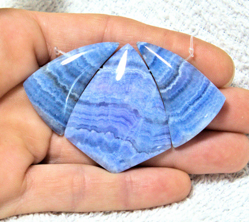 134.0 Tcw. Blue Rhodochrosite Fan - Gorgeous