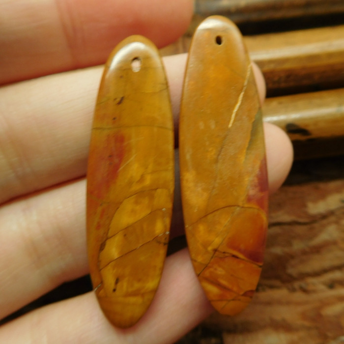 Gemstone earring pair creek jasper earring (G2751)