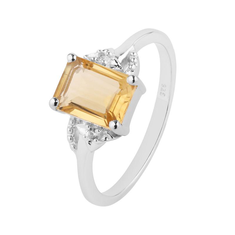 Citrine 925 Sterling silver ring #36702