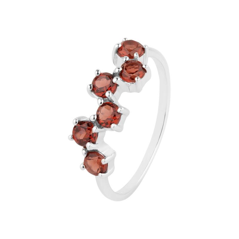 Garnet 925 Sterling silver ring #36722